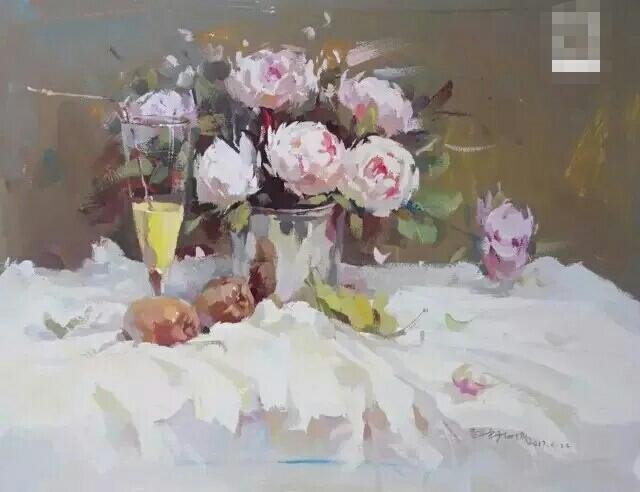 油画衬布带花纹图片